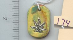 Knotty PEACEs Artwork. Pendant made from Polymer and Fimo Clay One of a Kind available for purchase KP-P-2-174