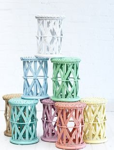 My new obsession.... The Family Love Tree - Childs Peacock Side Table Pastel Blue | babybeandesign.com