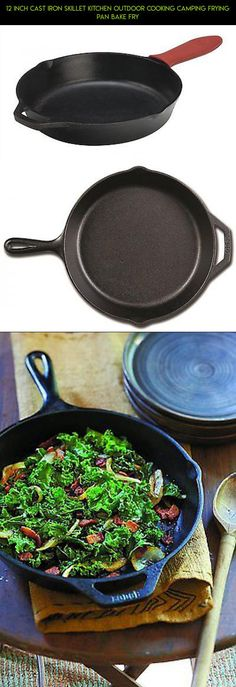 12 Inch Cast Iron Skillet Kitchen Outdoor Cooking Camping Frying Pan Bake Fry #fpv #camera #drone #technology #kit #gadgets #outdoor #fry #plans #pan #tech #products #parts #racing #shopping #cooking