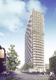 Image 1 of 7 from gallery of C.F. Møller Wins Competition for Hybrid-Structure High-Rise in Sweden. Photograph by C.F. Møller