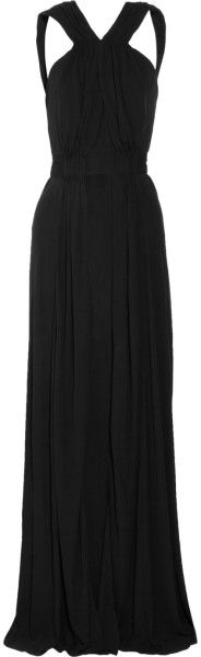 Beautiful Black Ruched Crepejersey #Gown