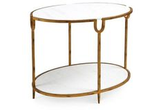 Kearny Side Table, White Marble