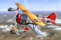 Grumman F3F-3 'Flying Barrel', by Stan Hajek