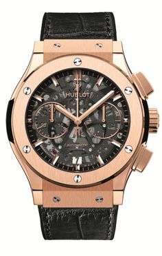Hublot Classic Fusion Chrono Aero King Gold on Strap