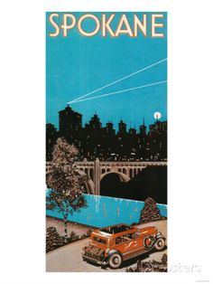Spokane Advertising Poster No.1 - Spokane, WA Posters by Lantern Press at AllPosters.com
