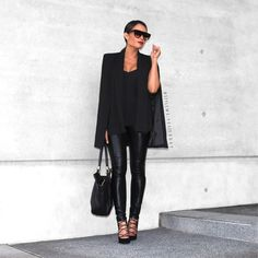 """KIMBLY WRIGHT on Instagram: """"#allblackeverything @hanellei.shop Cape #celine #marcjacobs #sunglassconnection #wantedshoes #fashionblogger #streetstyle #styleblogger #ootn #ootd #srylemeyesterday"""""""