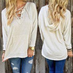 New Women Long Sleeve Hoodie Sweatshirt Sweater Casual Hooded Coat Pullover #Unbranded #Hoodie