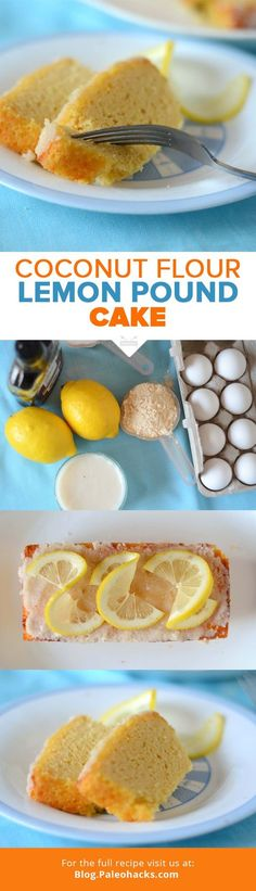 Paleo dessert that's a take on a beloved classic? Try this fluffy and soft lemon pound cake bursting with lemon flavor! Patisserie Sans Gluten, Dessert Sans Gluten, Paleo Dessert, Low Carb Desserts, Gluten Free Desserts, Baking Desserts, Coconut Flour Recipes, Coconut Oil, Lemon Coconut