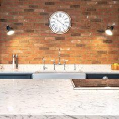 Bianco Foresta - Brentwood, Essex - Rock and Co Granite Ltd Brentwood Essex, Handmade Kitchens, White Quartz, Granite, Clock, Colours, Home Decor, Watch, Decoration Home