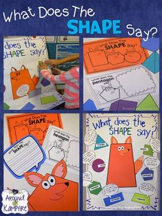 What Does the Shape Say? Fun 2D and 3D shape activities!  | Around the Kampfire