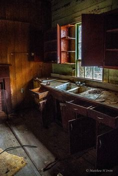 10. The open drawers and cabinets add a strange feeling of urgency to this now silent room