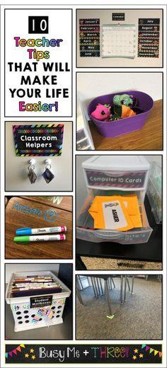 10 Teacher Tips to Make Your Life Easier! - Busy Me Plus Three