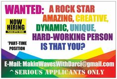 ^HIRING  *HELP WANTED...(Part Time),
