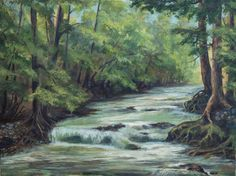 "Saatchi Art Artist Alexander Koltakov; Painting, ""Mountain River - SOLD"" #art"