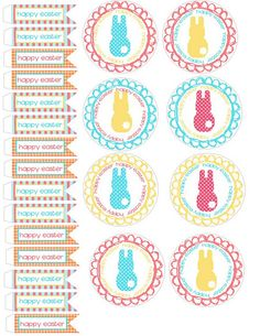 Easter cupcake toppers FREE printables