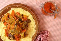 Couscous met lamsschenkel, saffraan en groenten