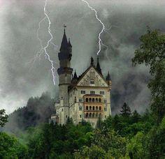 Lightning Strikes, Neuschwanstein Castle, Germany