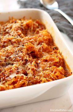 Easy spaghetti squash casserole recipe