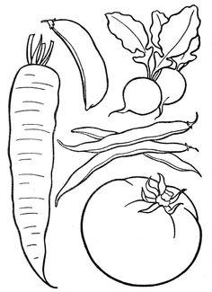 Omalovánka - zelenina