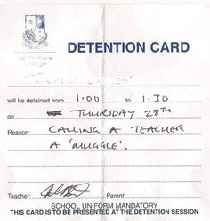 expectus detention.
