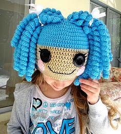 Absolutely adorably #crocheted Lalaloopsy inspired hat. Make one for your little girl and she'll have a blast wearing it!