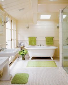 i like the touches of lime green... [photo by mark lohman; from elle decor]
