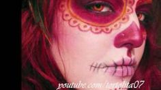 Dia De Los Muertos Sugar Skull/ Catrina- Sylvia Ji Inspired, via YouTube.