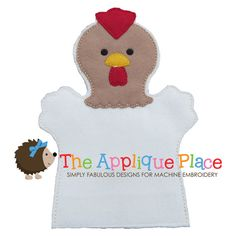 Rooster Hand and Finger Puppet In The Hoop by TheAppliquePlace, $4.00