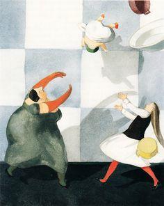 http://www.brainpickings.org/2014/07/07/best-illustrations-alice-in-wonderland/ LISBETH ZWERGER (1999)