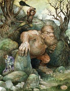 "Omar Rayyan -Brown Fairy Book ""How Geirald the Coward was Punished"" http://studiorayyan.com"