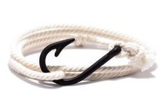 Cream with Black Hook Bracelet