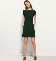 CINCHED WAIST GREEN DRESS