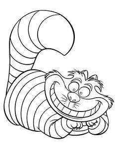 tiger color pages | letter r, s, t | pinterest | tigers, coloring ... - Cheshire Cat Smile Coloring Pages