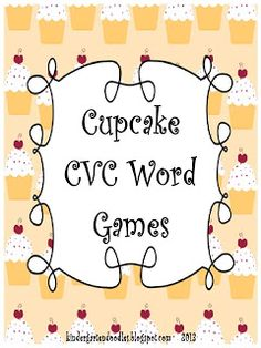 cvc word games freebie