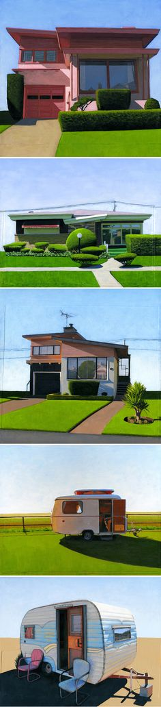"""The Jealous Curator /// curated contemporary art /// """"hello, me?"""" -- paintings by Leah Giberson"""