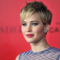 This cropped pixie haircut looks A-M-A-Z-I-N-G on Jennifer Lawrence. Click through to see more stars rocking this season's hottest hairstyles: http://www.womenshealthmag.com/beauty/celebrity-haircuts?cm_mmc=Pinterest-_-womenshealth-_-content-beauty-_-celebritieswithfreshhairstyles