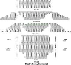 The theatre holds approximately 890 seats over four levels. Theatre Royal Haymarket, Thing 1, How To Plan, Words, Horse