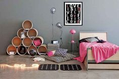 Fun & Unique Storage Ideas - Driven by Decor Dream Bedroom, Girls Bedroom, Bedroom Decor, My New Room, My Room, Driven By Decor, Teen Girl Rooms, Attic Rooms, Attic House