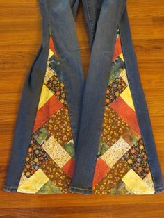 I desperately miss my bell bottoms. It's been about 15 years since the last pair died. I think I may need to make a pair with patchwork- so much cooler than plain fabric. Will need neat seams behind the quilting.