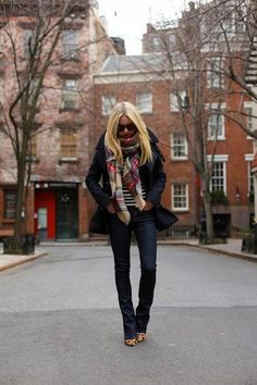 Slim bootcut. How to Wear Blue Jeans: 60 Outfits to Inspire | StyleCaster