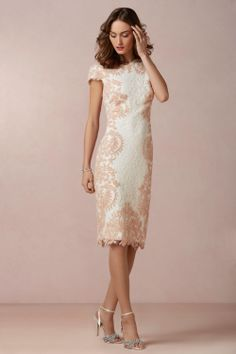 Ivory Dress with Pink Damask Detail.