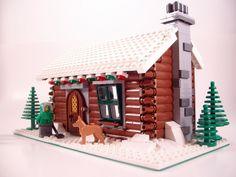 Winter Village: Log Cabin 3 by Jameson42, via Flickr