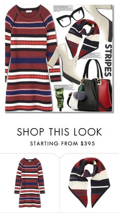 """""""Big, bold stripes"""" by paculi ❤ liked on Polyvore featuring Tory Burch, Aesop, StreetStyle, casual and preppy"""