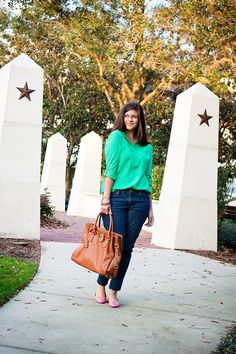 polkadotjeans- cute outfit idea and cheap!