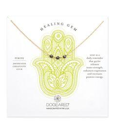 Dogeared Healing Gem Triple Pyrite Necklace