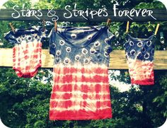 The Creative Vault: Stars & Stripes Forever Tie-Dye. Love this tute!