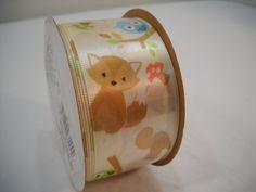 Forest Fox Animals Berwick #Ribbon 3 Yards New On The Spool Nursery Ribbon  1…
