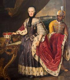"""Portrait of Princess Franziska Christine Palatinate-Sulzbach, Princess-Abbess of Essen and Thorn"" by Josef Schmitz Portrait, 18th Century, African, African Diaspora, Portrait Painting, European Art, American History, History, Black History"