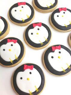 Pink Bow Penguin Cookies (1 dozen). $30.00, via Etsy.