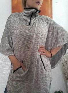 DOLMAN CAPE LIGHTWEIGHT SUMMER PONCHO COVER UP TOP POCKETS S M L FREE SZ BOHO  #Unbranded #Cape #Summer